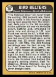 1968 Topps #530  Bird Belters  -  Frank Robinson / Brooks Robinson Back Thumbnail