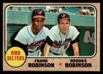 1968 Topps #530  Bird Belters  -  Frank Robinson / Brooks Robinson Front Thumbnail