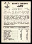 1960 Leaf #3   Frank Lary Back Thumbnail