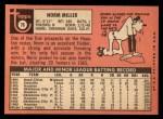 1969 Topps #76  Norm Miller  Back Thumbnail