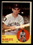 1963 Topps #64   Dick McAuliffe Front Thumbnail