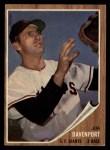 1962 Topps #9  Jim Davenport  Front Thumbnail