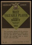 1961 Topps #473  Most Valuable Player  -  Bobby Shantz Back Thumbnail