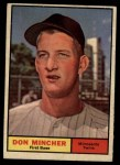 1961 Topps #336   Don Mincher Front Thumbnail