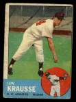 1963 Topps #104  Lew Krausse  Front Thumbnail