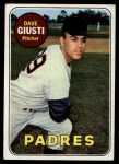 1969 Topps #98  Dave Giusti  Front Thumbnail