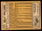 1968 Topps #37  Bill White  Back Thumbnail