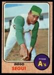 1968 Topps #517   Diego Segui Front Thumbnail