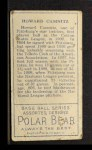 1911 T205 #29   Howie Camnitz Back Thumbnail