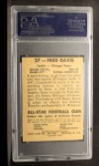 1948 Leaf #27 YEL Fred Davis  Back Thumbnail