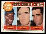 1969 Topps #654   -  Carlos May / Rich Morales / Don Secrist White Sox Rookies   Front Thumbnail