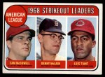 1969 Topps #11  AL Strikeout Leaders    -  Sam McDowell / Denny McLain / Luis Tiant Front Thumbnail