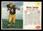 1962 Post #7  Hank Jordan  Front Thumbnail