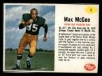 1962 Post #9  Max McGee  Front Thumbnail