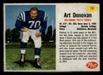 1962 Post #79  Art Donovan  Front Thumbnail