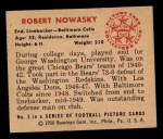 1950 Bowman #3  Robert Nowasky  Back Thumbnail