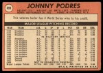 1969 Topps #659   Johnny Podres Back Thumbnail