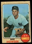 1968 Topps #467   Dick Howser Front Thumbnail