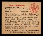 1950 Bowman #49  Sam Tamburo  Back Thumbnail