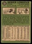 1967 #288  Denver Lemaster  Back Thumbnail