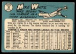 1965 Topps #31  Mike White  Back Thumbnail