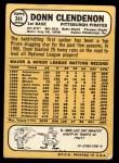 1968 Topps #344  Donn Clendenon  Back Thumbnail