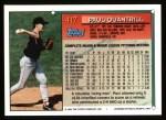 1994 Topps #417  Paul Quantrill  Back Thumbnail