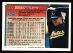 1994 Topps #255   Bobby Witt Back Thumbnail