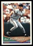 1994 Topps #162   Bob MacDonald Front Thumbnail