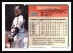 1994 Topps #7  Jose Mesa  Back Thumbnail