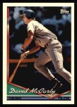 1994 Topps #156  David McCarty  Front Thumbnail
