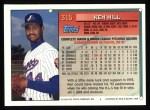 1994 Topps #315  Ken Hill  Back Thumbnail