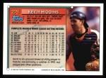 1994 Topps #279  Kevin Higgins  Back Thumbnail