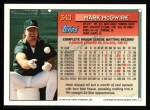 1994 Topps #340  Mark McGwire  Back Thumbnail