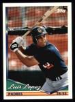 1994 Topps #336  Luis Lopez  Front Thumbnail