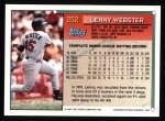 1994 Topps #252  Lenny Webster  Back Thumbnail