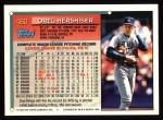 1994 Topps #460   Orel Hershiser Back Thumbnail
