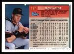 1994 Topps #117   Jack Voigt Back Thumbnail