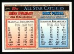 1994 Topps #391   -  Mike Stanley  /  Mike Piazza All-Star Back Thumbnail