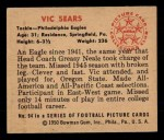 1950 Bowman #94  Vic Sears  Back Thumbnail