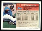 1994 Topps #225   Greg Vaughn Back Thumbnail