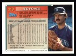 1994 Topps #319   Ted Power Back Thumbnail