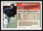 1994 Topps #111   Greg Litton Back Thumbnail
