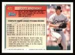 1994 Topps #421  Scott Radinsky  Back Thumbnail