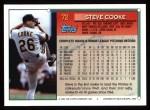 1994 Topps #72  Steve Cooke  Back Thumbnail