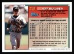 1994 Topps #318  Jeff Blauser  Back Thumbnail