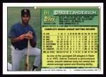 1994 Topps #84   Garret Anderson Back Thumbnail