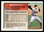 1994 Topps #449  Jim Poole  Back Thumbnail