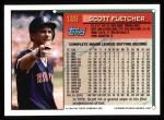 1994 Topps #169   Scott Fletcher Back Thumbnail