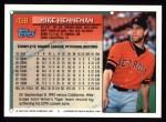 1994 Topps #438   Mike Henneman Back Thumbnail